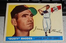 "1955 Topps ""Dusty"" Rhodes New York Giants #1 Baseball Card"