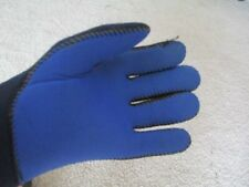 Mens Medium Scuba, Dive, Snorkeling Neoprene Blue Gloves