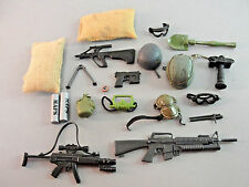 GI JOE 21ST CENTURY RIFLES WEAPONS GOGGLES GUNS COMPASS CAMERA COMBAT HAT LOT 22