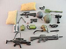 GI JOE 21ST CENTURY RIFLES WEAPONS GOGGLES GUNS COMPASS CAMERA COMBAT HAT LOT 22