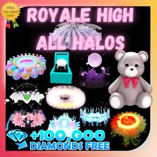 ROYALE HIGH - HALO & ACCESSORIES & SET &  DIAMONDS - RH  (RESTOCKED) 