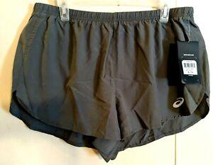 ASICS Mens Split Shorts, Castlerock Gray XL X-Large