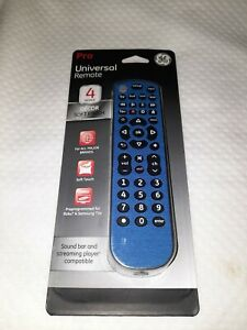 GE Pro Universal Remote 4 Device Blue Decor Finish Roku Samsung Sound Bar NEW