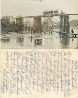 Prima guerra mondiale - Soldati tedeschi che costruiscono un ponte - 1916