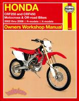 CRF250 HONDA CRF450 SHOP MANUAL SERVICE REPAIR BOOK HAYNES CLYMER MOTORCROSS