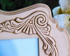 Blush pink ornate embellished scallop wall gallery picture frame home decor