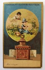 RARE MAGIC LANTERN / LANTERNE MAGIQUE / LATERNA MAGICA ADVERTISING TRADE CARD