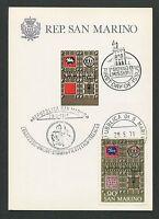 SAN MARINO MK 1971 KONGREß PFERD HORSE MAXIMUMKARTE MAXIMUM CARD MC CM d6607