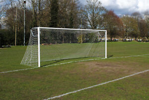 Pair of 21x7 Youth Football Aluminium Socketed Goals - Made in the UK - Free P&P