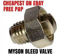 Radiator GENUINE BLEED SCREW AIR /  VALVE VENT NIPPLE  'MYSON' RADIATORS >2003