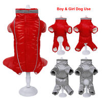 Boy Girl Dog Jumpsuit Clothing Warm Dog Coat Thick Puppy Pet Dog Clothes Winter