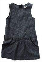 ZARA Girls GREY Twill Wool Blend Mini Jumpsuit Playsuit 5-6y 6-7y £25.99