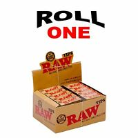 RAW ROLLING PAPER  ROACH FILTER TIPS FULL BOX 50 BOOKLETS