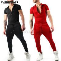 Mode Hommes Nouveaux vêtements Combinaison Vêtements Zips Jumpsuit Pantalons FR