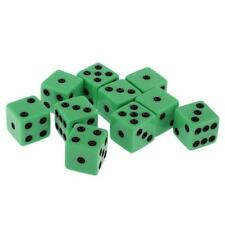 10pcs Green Six Sided D6 Dices for D&D Casino Poker Dice Guessing Games 18mm
