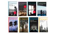 🚬  8x Georges Simenon im Bücherpaket -  Maigret Krimi Sammlung Atlantik Verlag
