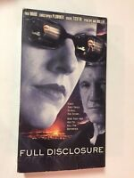 FULL DISCLOSURE, FRED WARD, PENELOPE ANN MILLER, VHS RARE