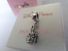 Pandora Disney Silver Cinderella Castle Pendant Charm with pouch