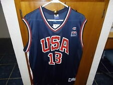 Tim Duncan 13 Dream Team Usa Basketball Olympic Champion Blue Jersey Men's 40