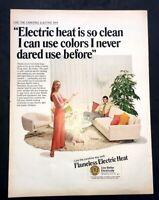 Life Magazine Ad FLAMELESS ELECTRIC HEAT 1970 AD