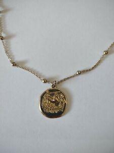 Jewellery-Gold Tone Roman Chariot Pendant & Gold tone ball chain-Deceased Estate