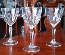 CRISTAL D'ARQUES Crystal Claret Wine Glasses Washington Pattern - lot of 3