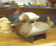 Canvasback Decoys by Charlie Bryan Signed And Original Paint