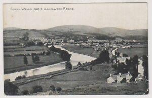 Wales postcard - Builth Wells from Llanelwedd Rocks (A758)