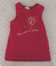 Old Navy 4T Girls Mom Makes My Heart Flutter Tank Top EUC butterfly mother's day