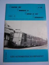 Magazine tramways vapeur secondaires 1983 28 Les automotrices Renault