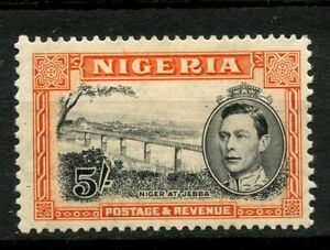 Nigeria 1938-51 KGVI SG#59 5s Black And Orange P13x11.5 MH Cat £110 #A52319
