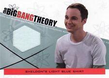 BIG BANG THEORY - SEASON 3&4 - SHELDON'S LIGHT BLUE SHIRT CARD - M14 - NrMt