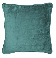 2x Terciopelo Aplastado Verde Azulado 43.2cm-43cm Fundas Cojín