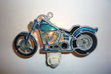 "STAINED GLASS STYLE "" MOTORCYCLE ""  NIGHT LIGHT"