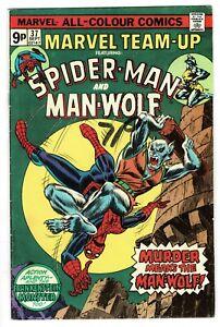 Marvel Team Up Spider-Man Man-Wolf - No 37 - 1975