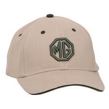 MG Cap Universal size in Tan with Green MG logo 100% Cotton Firm front panel NEW