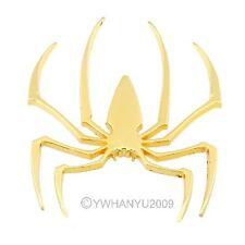 Metal Spider Car Bike Spider Logo Decal Sticker Emblem Badge 3D Golden  21090