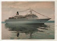 SHIPPING - ROYAL VIKING Cruise Liner  1980 Postcard to UK Tax TO PAY Markings *