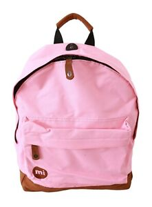 Mi-Pac Black Canvas Fold Top Backpack Day Pack Mi Pac Mipac