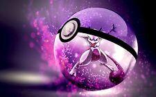 POKEMON GO Mew Pokemon PAESAGGIO-a4 260gsm Poster Stampa