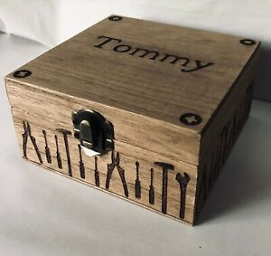 Personalised Father's Day Gift Tools Memory Tobacco Box Screw Box Grandad Daddy