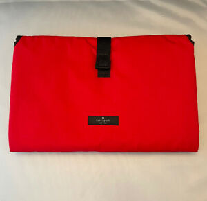 Kate Spade Solid Red Infant Diaper Changing Pad Foldable. EUC.