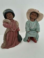 New ListingAll God's Children M. Holcombe Pair Orig Figurines Valerie 187 & Sasha 302 Mint!