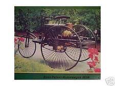 Älteres Blechschild Oldtimer Benz Patent Motorwagen 1886 Reklame gebraucht used