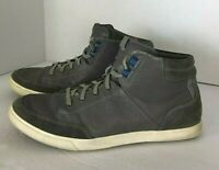 Cole Haan Mens Grand OS Lace Up Leather High Top Casual Sneaker Gray Size 9