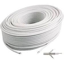 Cable Coaxial 17 VATC classe A  couleur blanc couronne de 15  Mètres