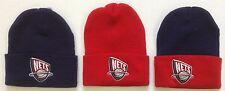 NWT NBA New Jersey Nets Reebok Cuffed Winter Knit Hat Cap Beanie NEW!