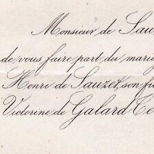Henri Louis De Sauzet 1866 Victorine De Galard Terraube