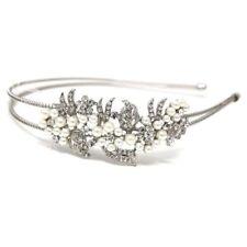 New Wedding Women's Crystal Rhinestone pearl Headband Hair Band