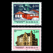 Norway 1990 - EUROPA Stamps - Post Offices - Sc 980/1 MNH